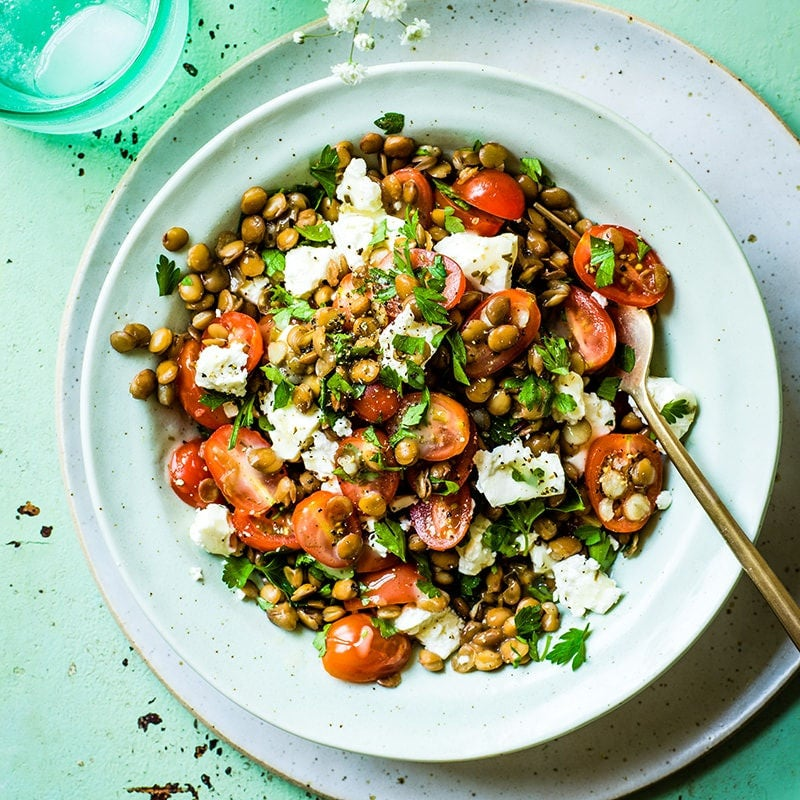 Photo of Lentil, feta and tomato salad by WW