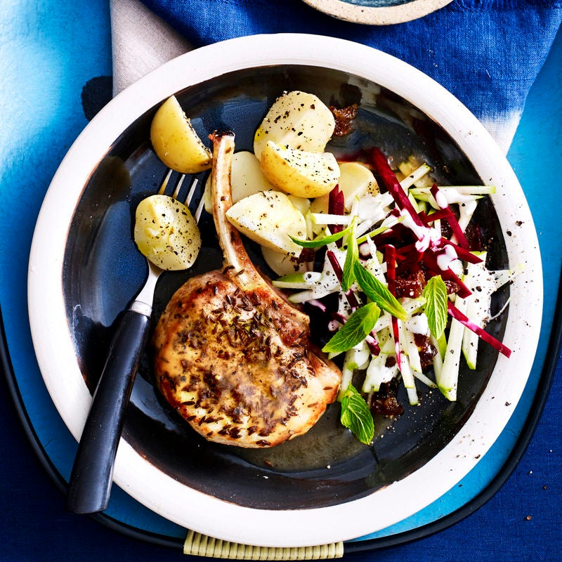 Photo of Caraway pork cutlet with apple beetroot slaw by WW