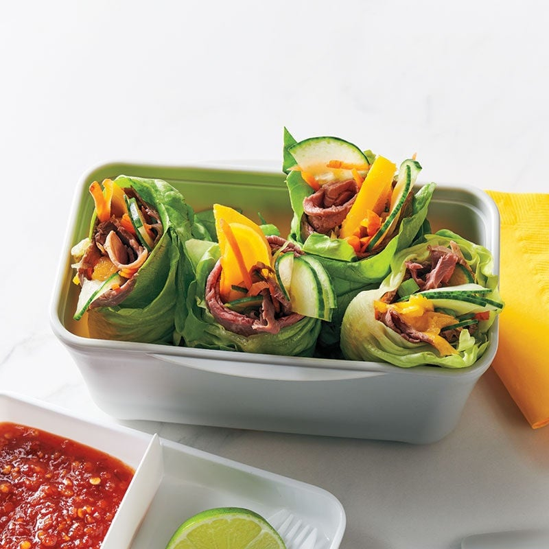 Photo of Beef, mango and cucumber wraps by WW