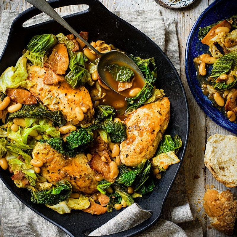 Photo of Bacon and cabbage briase with chicken by WW