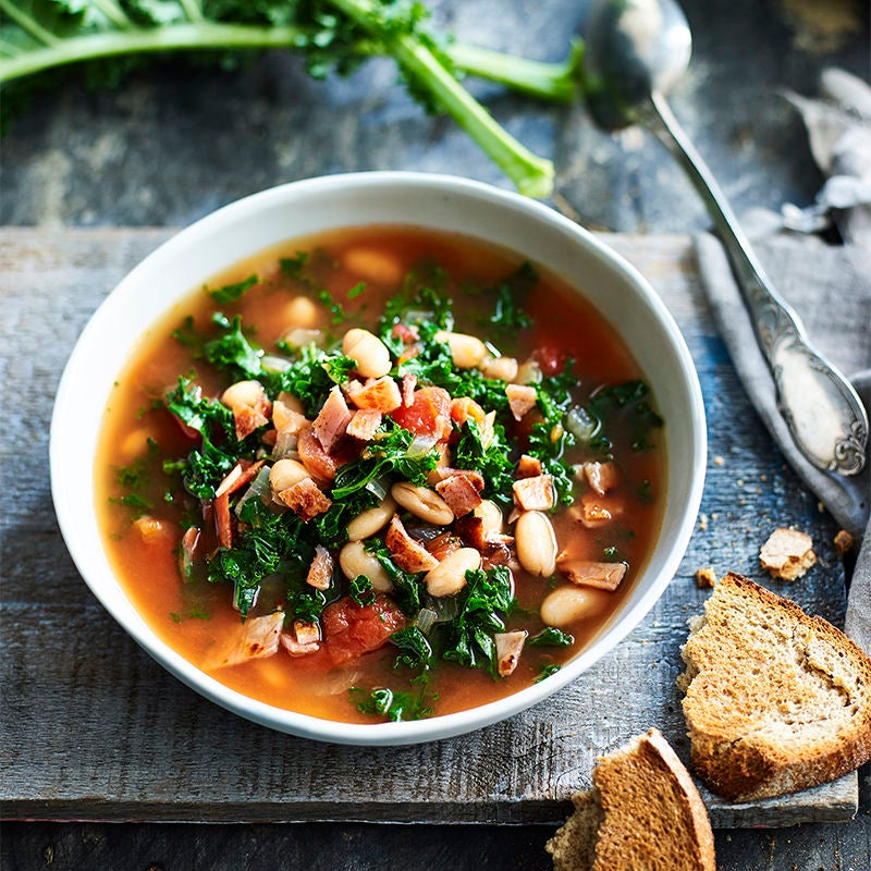 Photo of Kale and white bean soup by WW