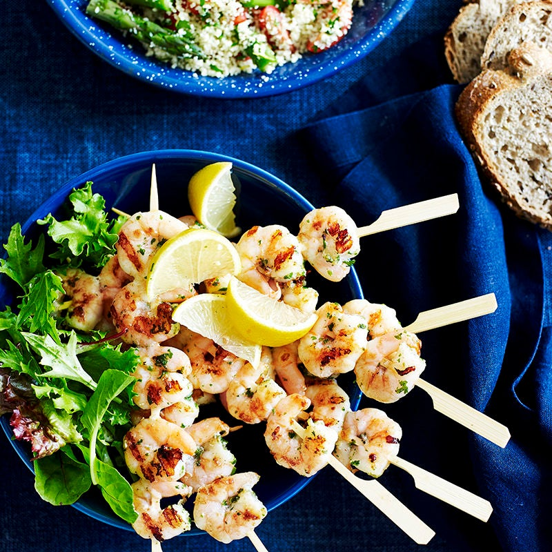 Photo of Garlic prawns with herb couscous by WW