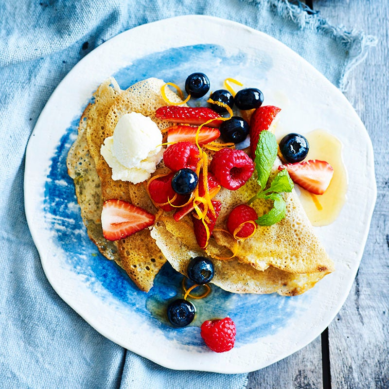 Photo of Buckwheat crepes with macerated berries by WW