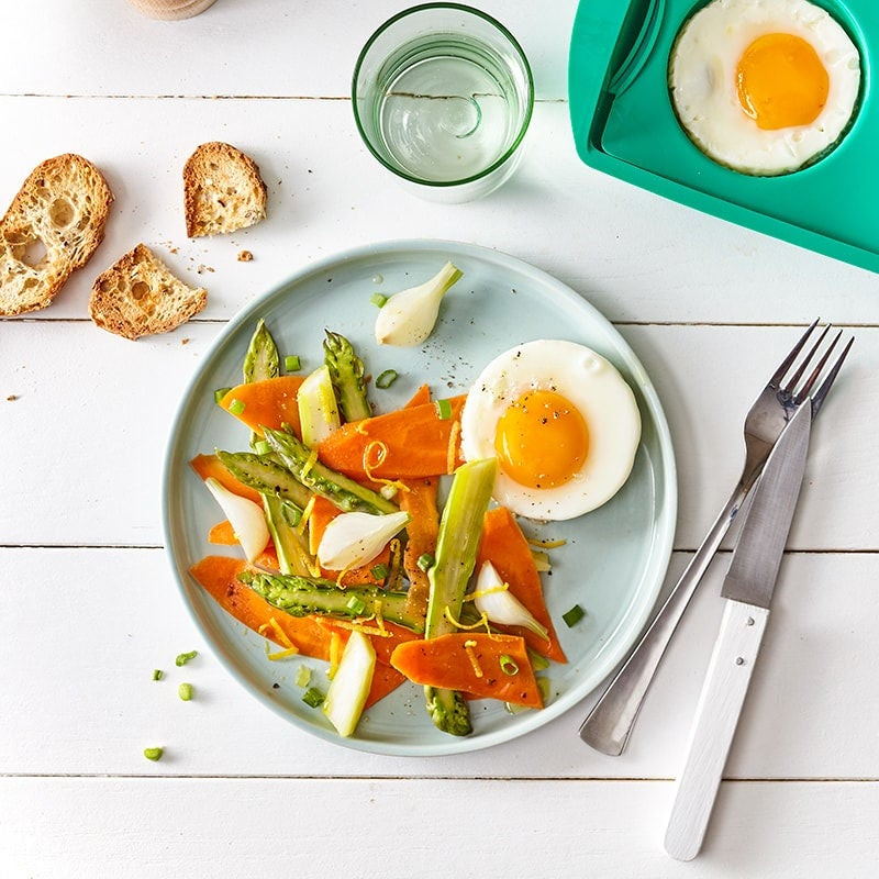 Photo of Spring vegetables and egg sunny-side up by WW