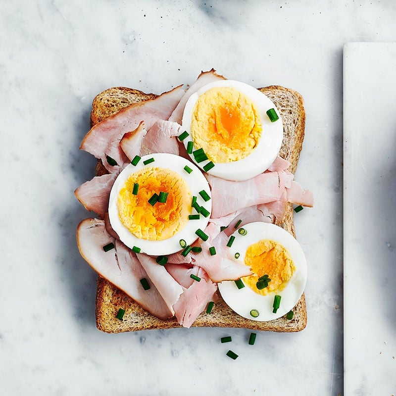 Photo of Ham, egg and chives toast topper by WW