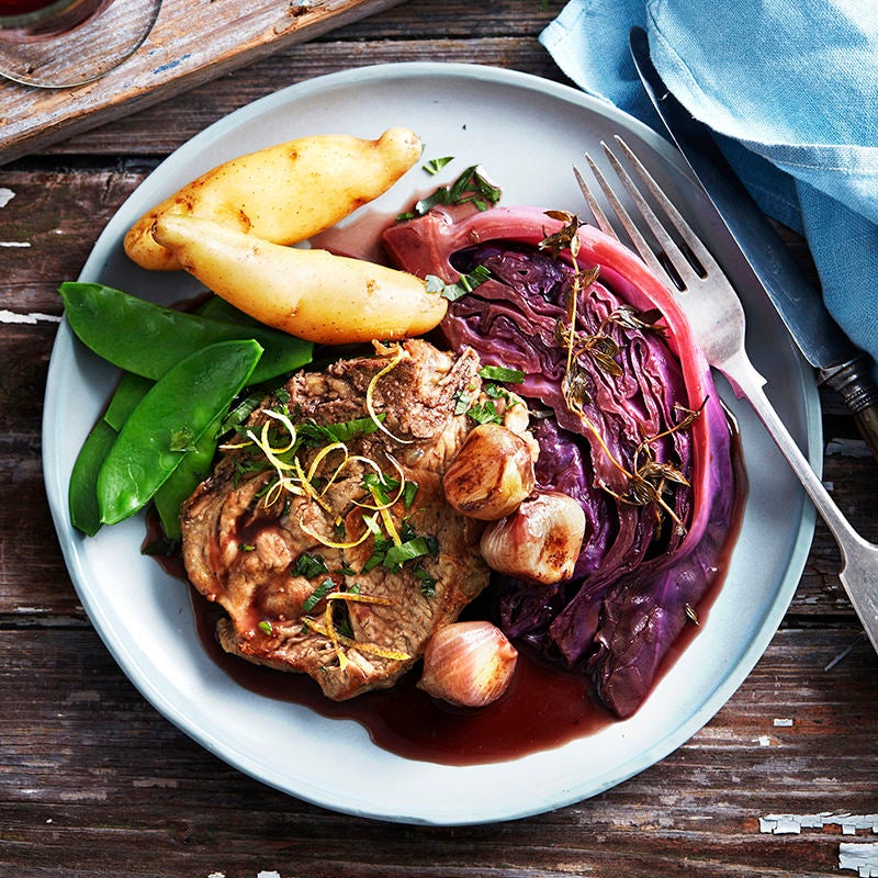 Photo of Braised pork with red cabbage by WW