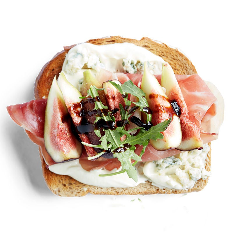 Photo of Prosciutto with fig and blue cheese toast topper by WW