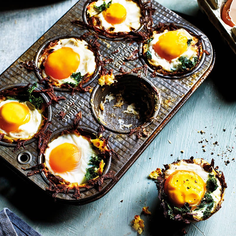 Photo of Potato nests with baked eggs and kale by WW