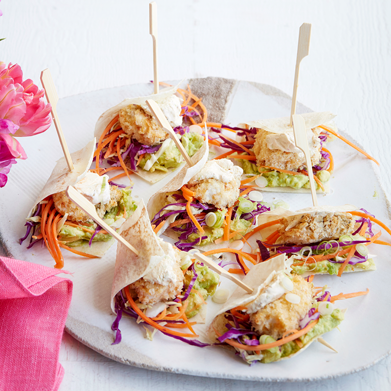 Photo of Mini fish tacos with rainbow slaw by WW