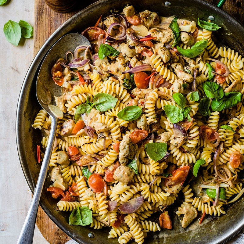 Photo of Chicken sausage and cherry tomato pasta by WW