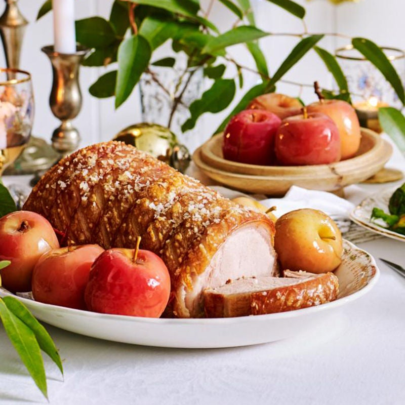 Photo of Roast pork with pickled apples and mustard gravy by WW